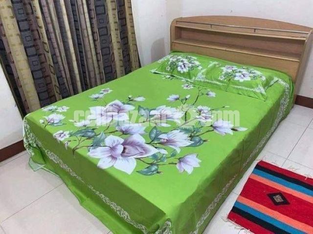 King Size Panel Cotton Bed Sheet - 5/5