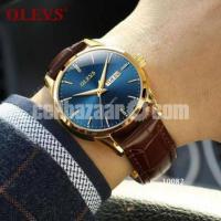 OLEVS  6897 Luxury Leather Wrist Watch
