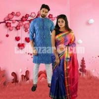 Valentine Couple Dress - Punjabi + Sharee