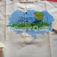 Pure Hand Paint Khadi Panjabi -Comilla