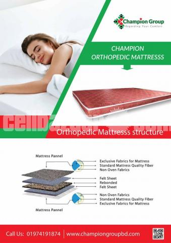 Champion Orthopedic Mattress (78x48x4) inch - 1/1