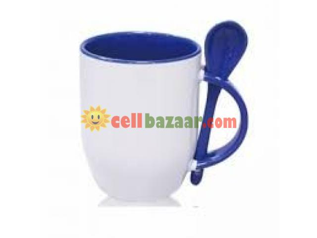 Inside & handle mug with spoon - 1/4