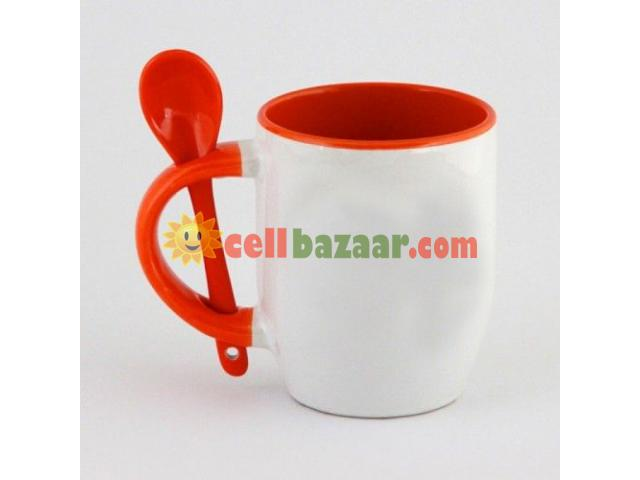 Inside & handle mug with spoon - 2/4
