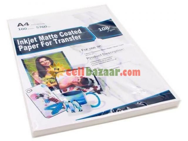 Sublimation Inkjet matte  Paper - 1/1