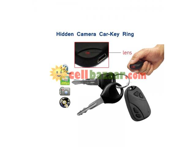 Spy Camera Car Key Ring 32GB - 1/5