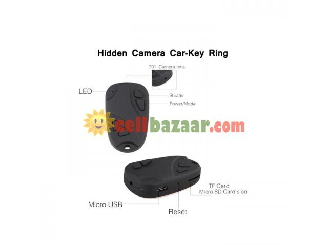 Spy Camera Car Key Ring 32GB - 3/5