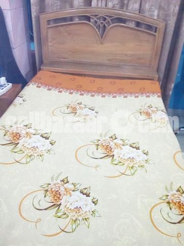 Segun wood bed 4 feet /7feet - 1/2