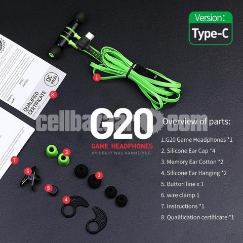 Type C Headphone Double Bass Magnetic Gaming Earphone Plextone G20 - 3/6