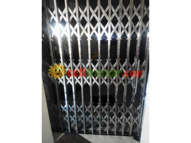 stainless collapsible gate - 1/2