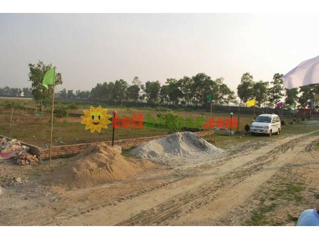 4 katha North corner plot@probashi palli - 4/5