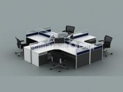 "4 SEATER CUBICLE DESK ""L SHAPE"""