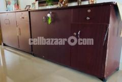 Laminated board small & long cabinet