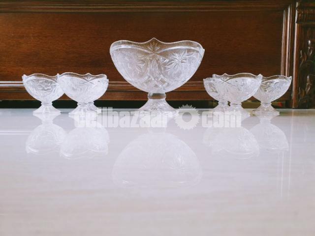 7 Pcs Decorated Glass Serving Set - 1/2