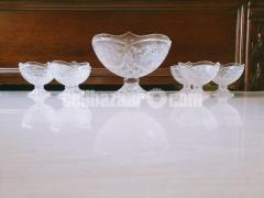 7 Pcs Decorated Glass Serving Set
