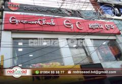 SS Top Letter Signboard for Indoor and Outdoor Signage  Redrosead Advertising Agency in