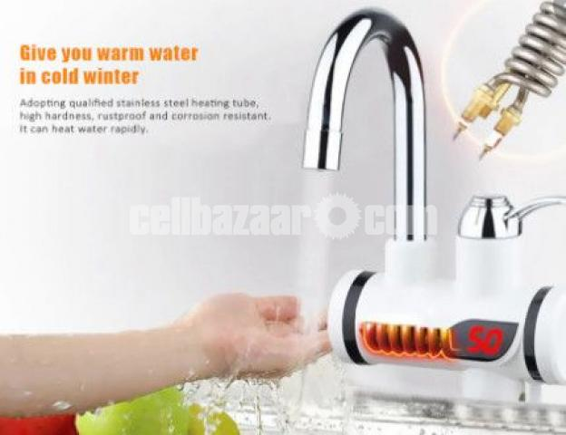 Digital Display Electric Instant Water Heater Tap for Basin with Hand Shower - 1/4