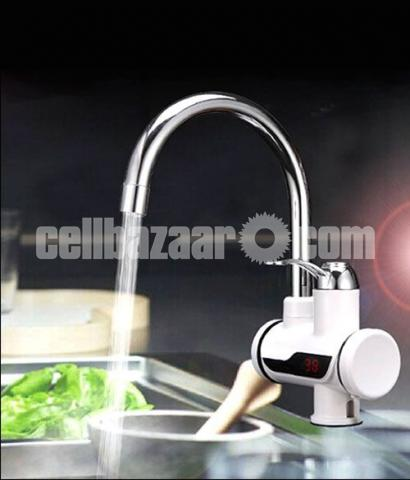 Digital Display Electric Instant Water Heater Tap for Basin with Hand Shower - 2/4