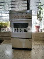 Gas Oven with Four Burners.