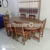 Dinning Table & Chairs (Shegun Wood)
