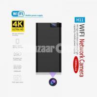 Spy Camera H11 Powerbank 4K Live Wifi IP Camera Night Vision Video with Voice Recorder