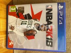 NBA2K18 PS4 Game PRICE NEGOTIABLE