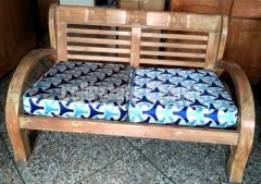 সম্পুর্ন সেগূন কাঠের (চিটাগাং সেগুন) সোফা সেট-(ডবল সিটের ২ টা ও টি টেবিল সহ)
