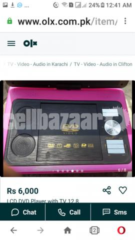 LCD DVD Player with 12.8 inches TV  Black Color - 5/5
