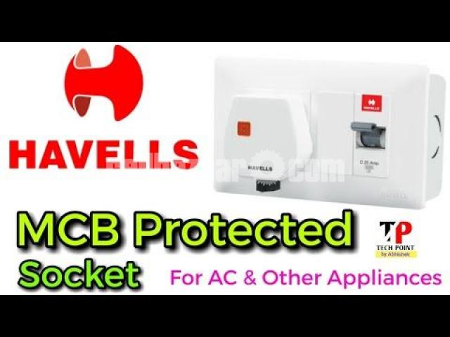 MCB Protected Socket DBOXX ( With Plug ) - 1/2