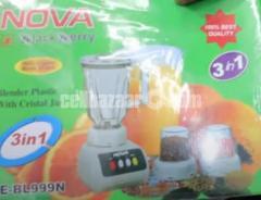 Nova 3 In 1 Black Berry Blender