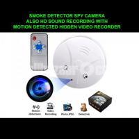 Spy Camera Smoke Detector Hidden Video Recorder Nanny Cam Motion Detected