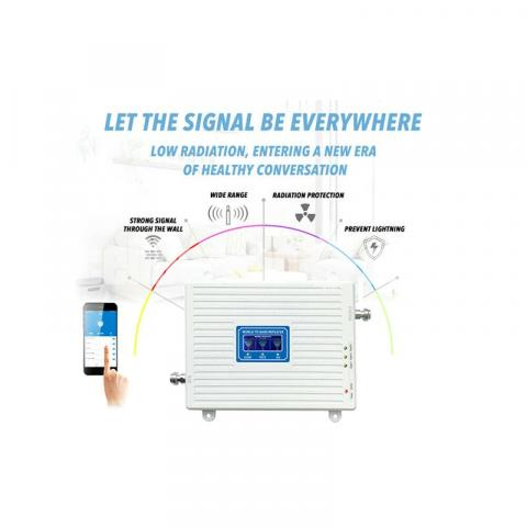 Network Booster 2G 3G 4G LTE Tri Band Cell Phone Signal Repeater - 4/6