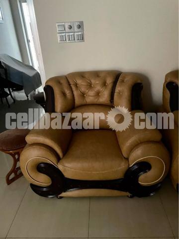 Leather Sofa Set - 1/3