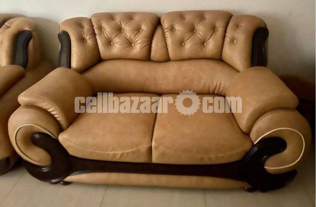 Leather Sofa Set - 2/3