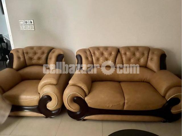 Leather Sofa Set - 3/3