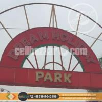 SS Sign Board SS Top Letter SS Metal Gold SS Top Letter and SS Led Lighting Signage