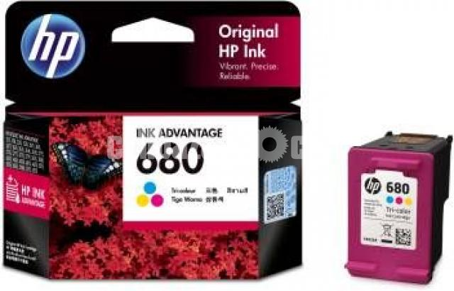 HP Genuine 680 Tri-color Original Ink Advantage Cartridge - 2/10