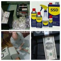 SSD Chemical Solution for cleaning Defaced Banknotes, Also Machine for Rent