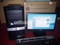 Bank Used Hp Brand Pc with Hp 19'' Led