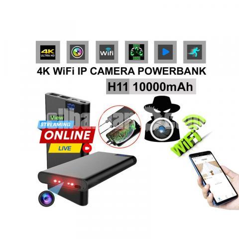 IP Camera Power bank Camera 10000mAh 4K Night Vision Live Wifi IP Camera Video Recorder - 1/6