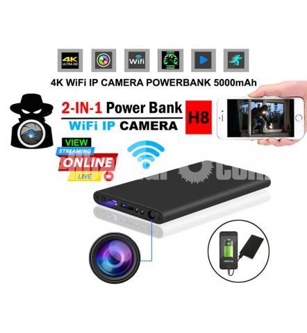 Live IP Camera 5000mAh Powerbank Night Vision Wifi IP Camera Spy Cam - 1/6