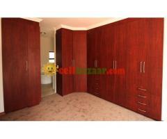 Modern master bedroom wall cabinet
