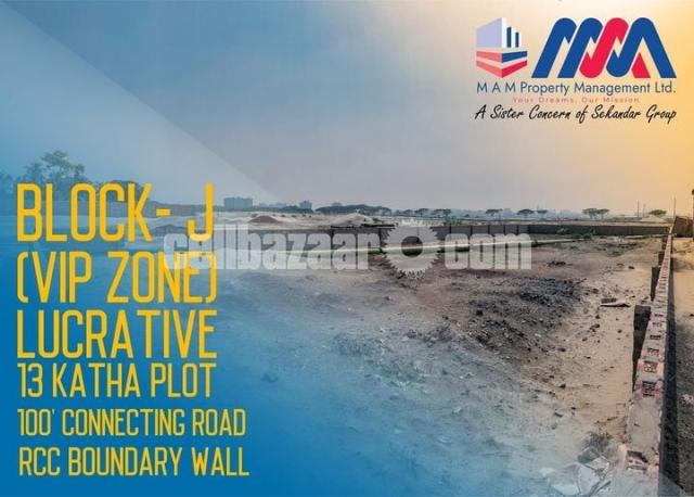 Block- J || 13 Katha || South Face Plot - 1/1