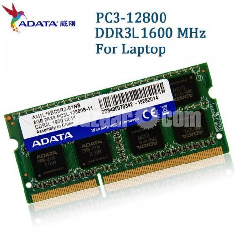 New Adata 8GB DDR3L 1600 Mhz Laptop RAM - 7/10
