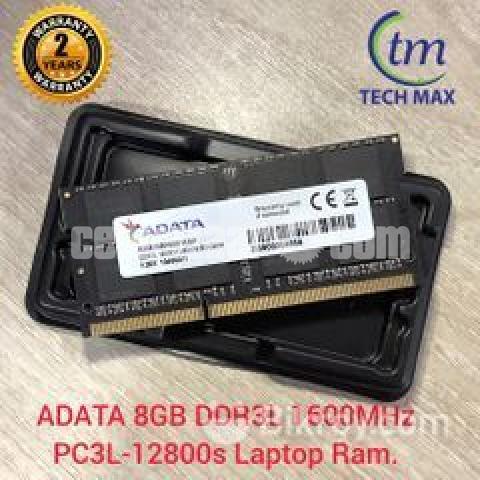 New Adata 8GB DDR3L 1600 Mhz Laptop RAM - 9/10