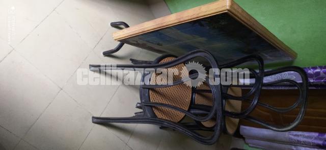 Folding table & Cahir - 1/2