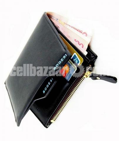 BOGESI Casual Black Genuine Leather Wallet - 1/1