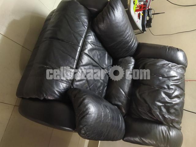Full Leather Lazy Boy Sofa - 1/5