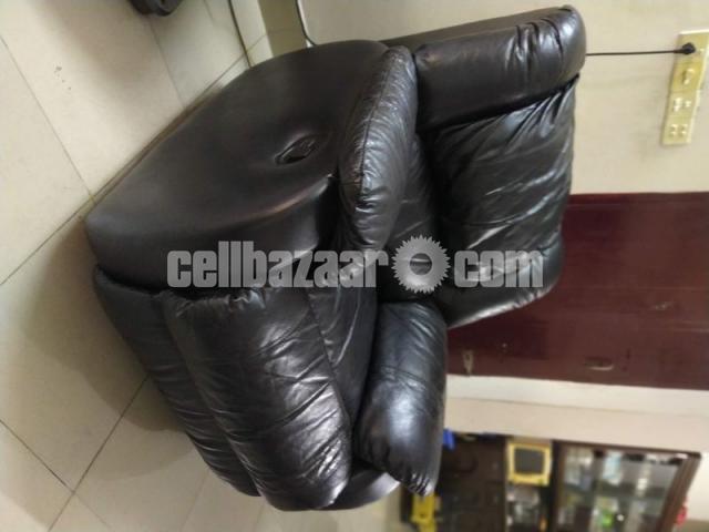 Full Leather Lazy Boy Sofa - 2/5