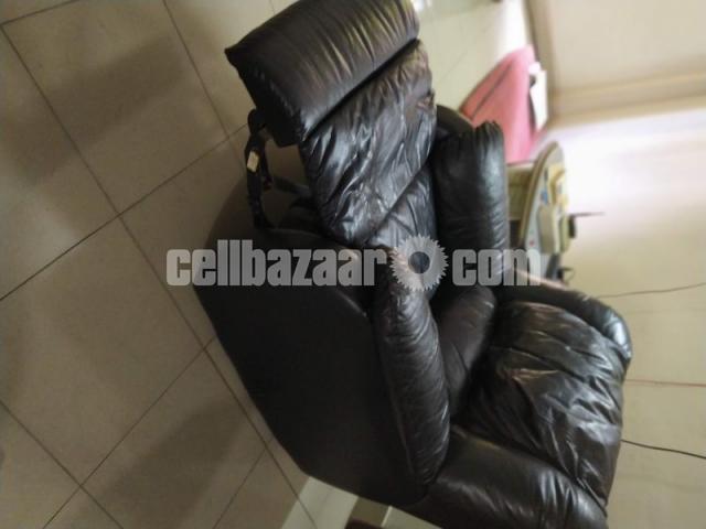 Full Leather Lazy Boy Sofa - 3/5