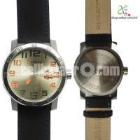 Curren 8254 Silver Dialer With Black Belt Watch